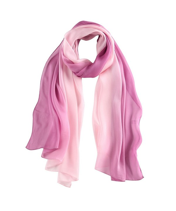 STORY OF SHANGHAI Womens 100% Mulberry Silk Head Scarf For Hair Ladies Scarf Gift for Valentine's Day - Pink2 - C2183L35G90