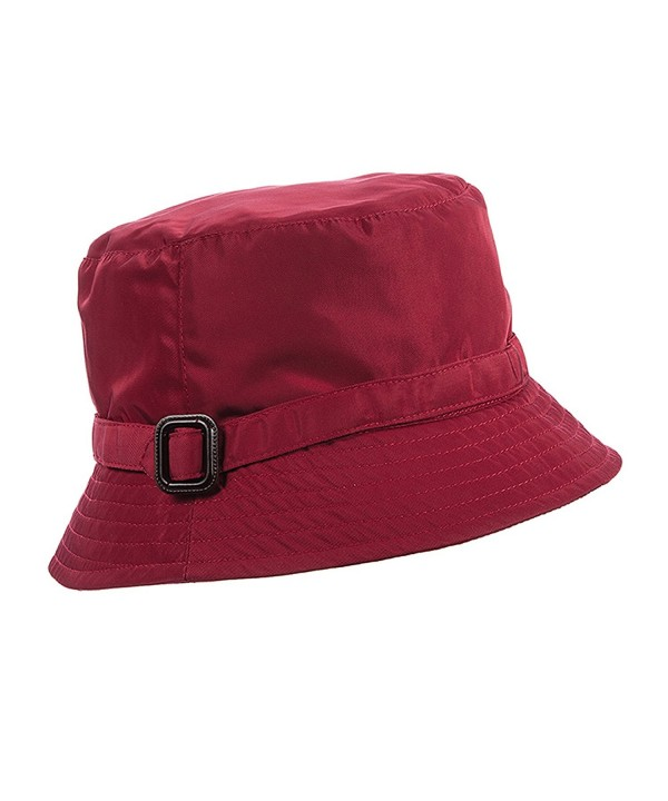 Scala Rain Hat with Buckle Trim - Wine - CM11OTK80DX
