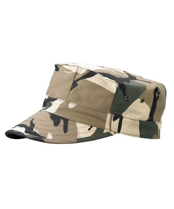 Camo Twill Cadet Army Hat - Safari - CV119AGJK61