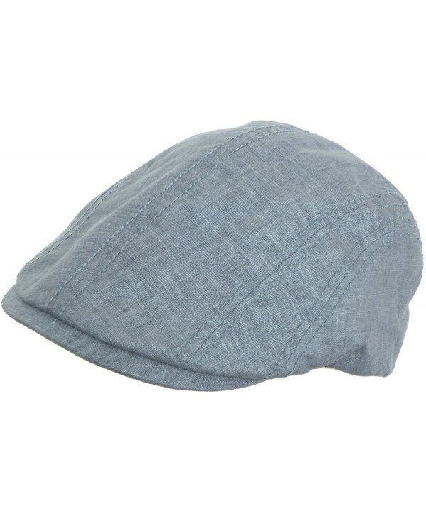 Linen Blend Ivy Hat Pub Cap Modified 5 Point Driver Newsboy Broner - Slate Blue - CV11ZUFSJ1J