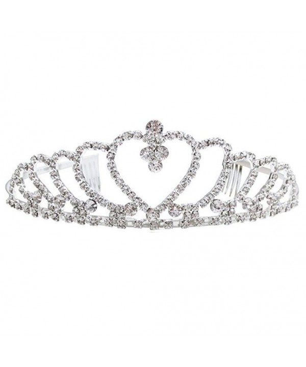 Crystal Rhinestone Crown Headband Party Princess Women's Wedding Bridal Tiara Hairband - CG12EMXZQUV