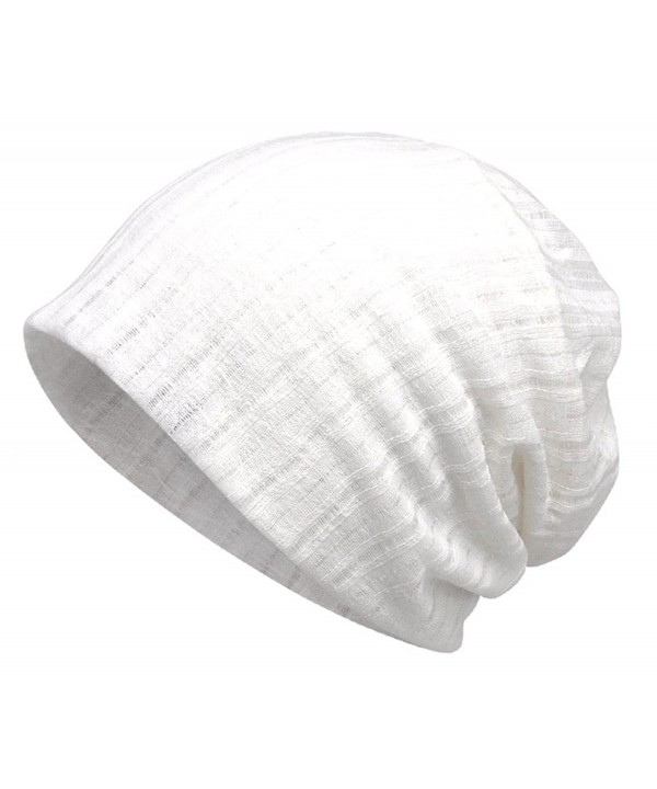 Jemis Women's Chemo Hat Beanie Scarf Liner for Turban Hat Headwear for Cancer - White - CD187DOAMD8