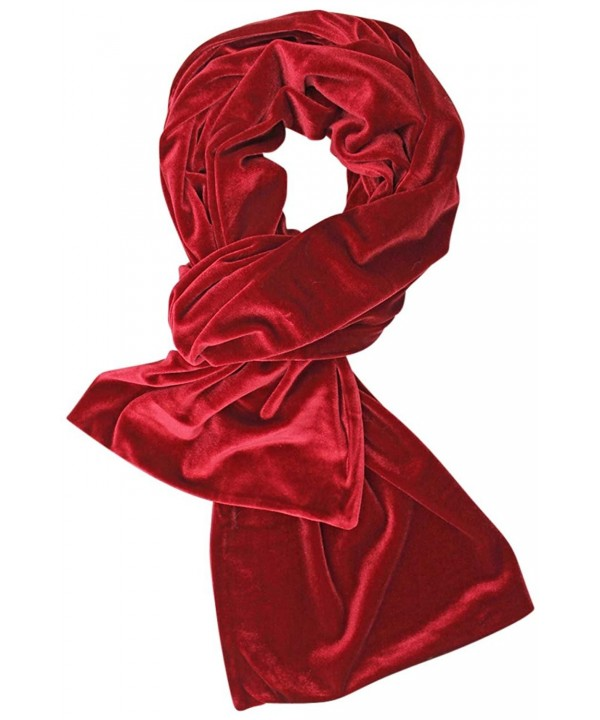 Long Velvet Evening Scarf - Red - CZ128O8OS6D