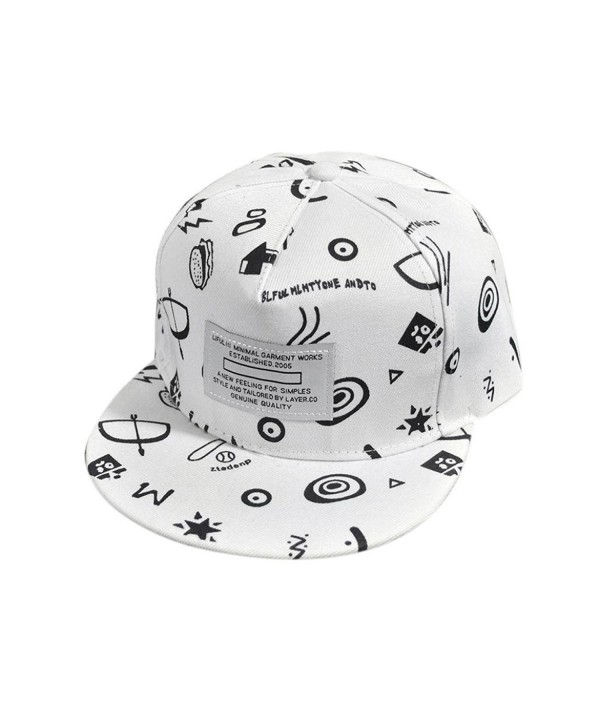 Toraway Caps- Unisex Cool Hip Hop Snapback Hat Adjustable Baseball Cap - White  1 - CW12GIPG461