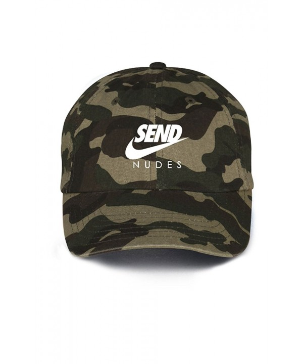 Send Nudes Unstructured Baseball Dad Hat- Camo - CO17X3LWMGI