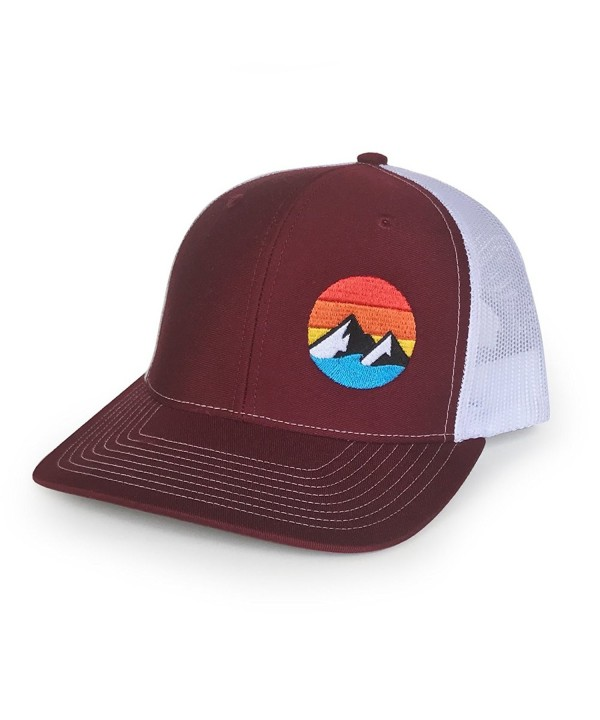 WUE Explore the Outdoors Trucker Hat - More colors - Maroon/white - CP1875ND3QT
