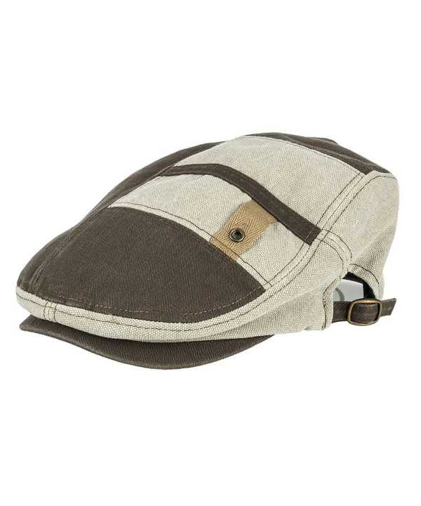 TNC Men's Gatsby IVY Irish Hunting newsboy Cabbie Hat Cap Brown - C612EALQYEL