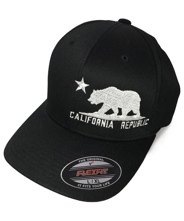 California Flag Flexfit Baseball Hat Asst Colors - Black - CZ11XUC6W8B
