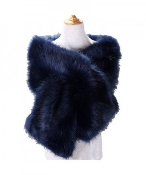 Yiweir Women's Extra Large Faux Fur Shawls Scarves for Winter to Keep Warm - A18 - CM186YIIC0G