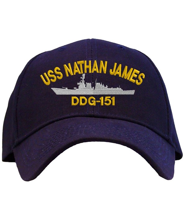 Spiffy Custom Gifts USS Nathan James DDG-151 Embroidered Baseball Cap - A Navy - CT12GAPC0TN