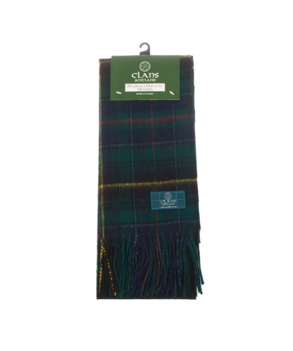 Clans Of Scotland Pure New Wool Scottish Tartan Scarf Macinnes Hunting (One Size) - CW123BWK2HV