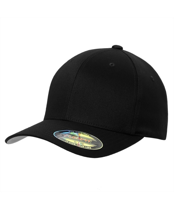 Flexfit Premium Original Yupoong 6277 Wooly Combed Twill 6 Panel Cap - Black - CO11LNCZ137