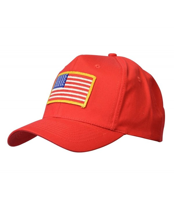 KC Caps Baseball Adjustable Unconstructed - Us Flag Red - CV12C8EFMZZ