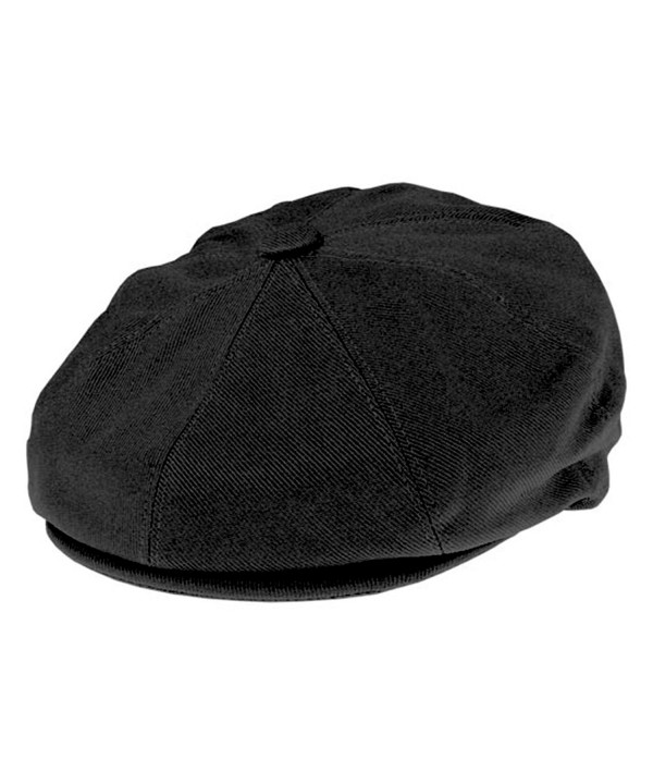 Jaxon Cotton 8/4 Newsboy Cap - Black - C41147WIBVT