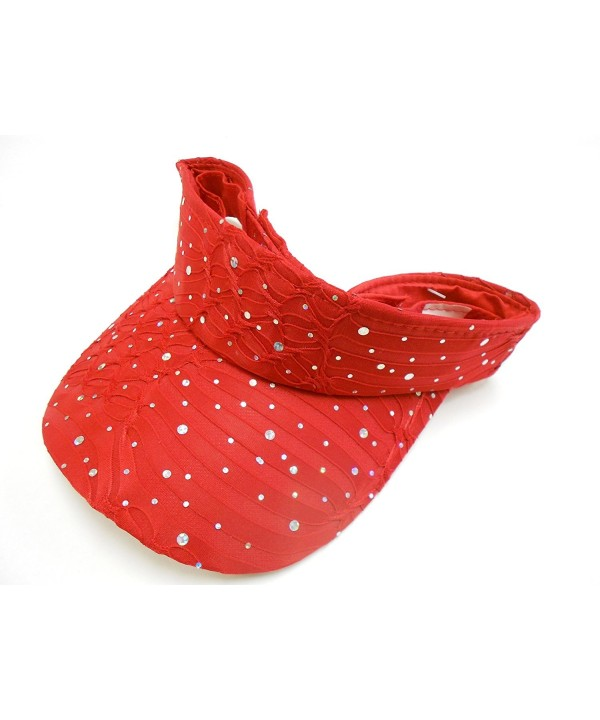 Red Glitter Visor - CB113RB8BLV