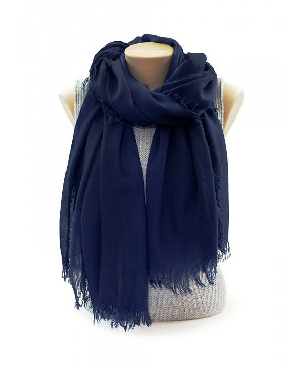 Scarves for Women: Lightweight Elegant Solid colors Fashion Scarf by MIMOSITO - Royal Blue - C1183K6UXZ7