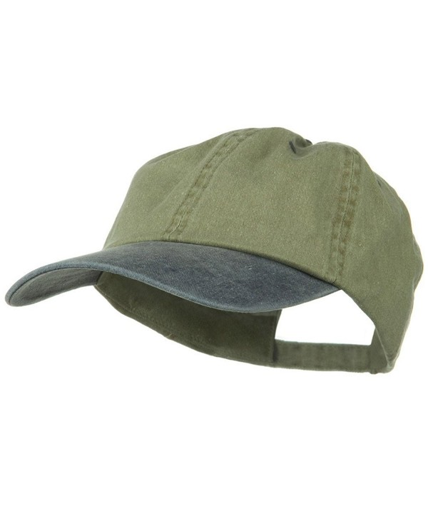 New Big Size Washed Cotton Ball Cap - Khaki Navy (For Big Head) - C71172V6A19