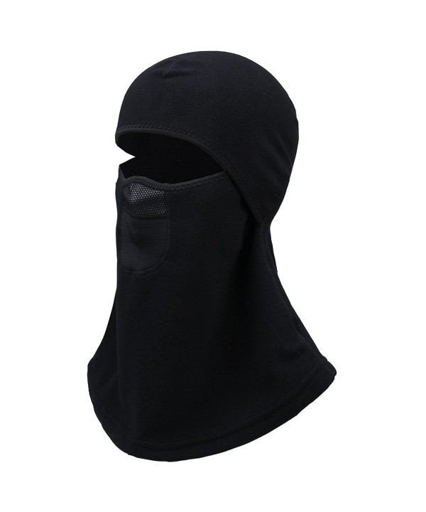 Men & Women Balaclava Ski Mask- Winter Fleece Thermal Balaclava face mask Black One Size - CW12ODUR75D
