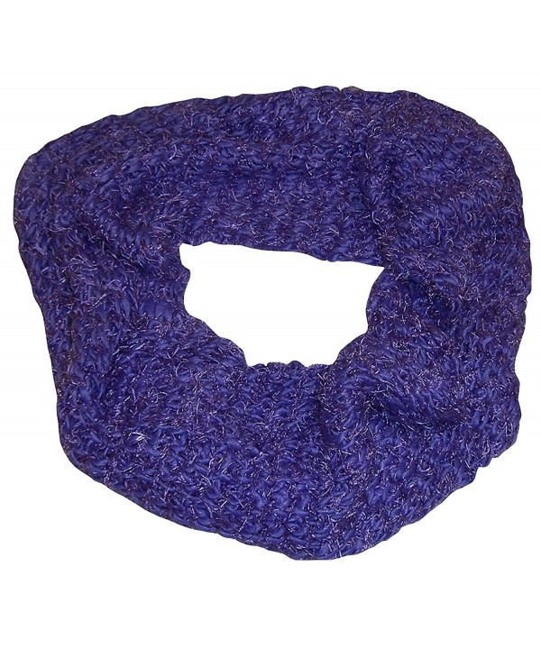 N'Ice Caps Womens Iceland Yarn And Feather Circle Infinity Scarf - Purple - CV124NDHS47