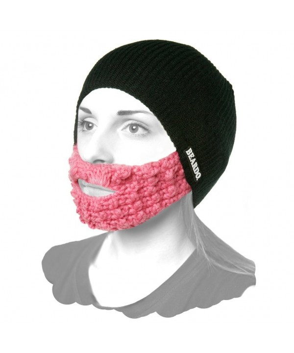Beardo Attached Beard Hat - Black Pink - CE11HKTXRFV