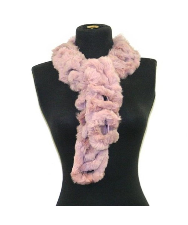 Bridal Wedding Dinner Party Angora Rabbit Fur Neck Scarf Wrap--Dusty Pink - C2117O3JG3F