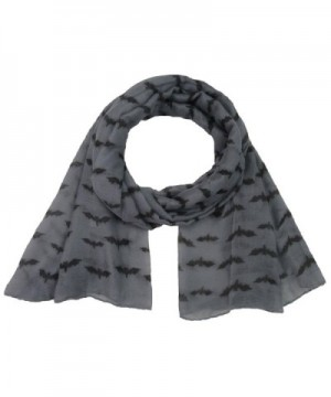 Women Scarf Winter Shawl Bat Print Fashion Scarf Soft Wrap Stole Pashmina Scarves - C - C91885I8D69