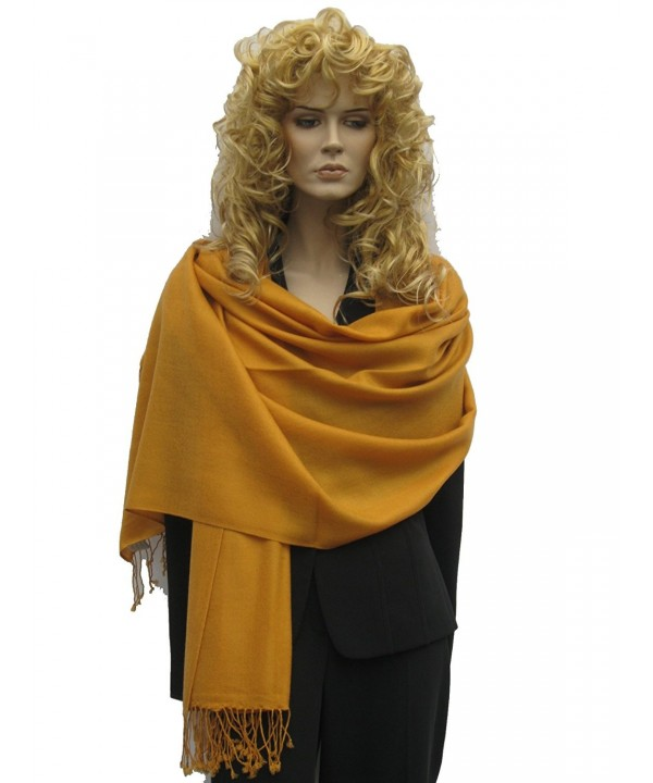 Cashmere Pashmina Group: Solid Pashmina Shawl- Scarf- Wrap & Stole(Regular size) - CM111A5FCNF