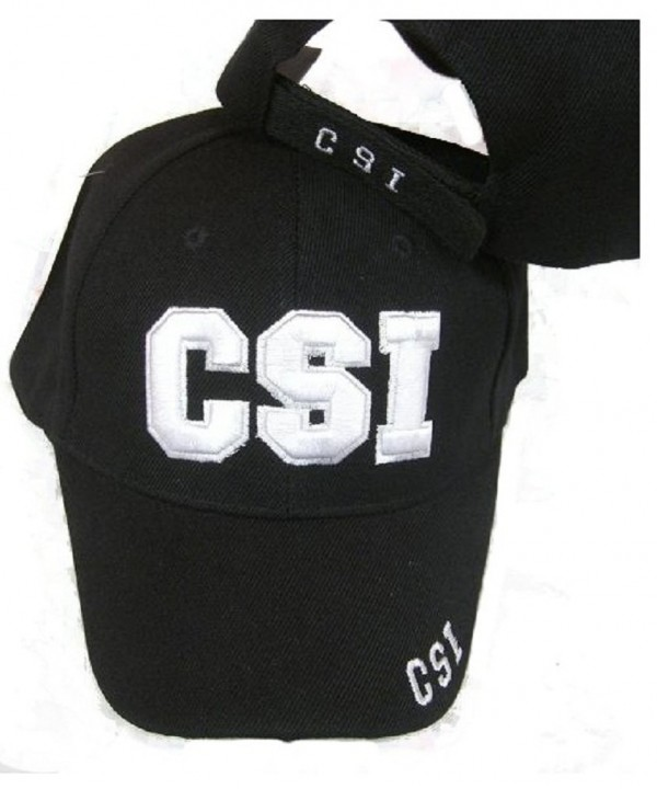 CSI Embroidered Adjustable HAT Black Ball Cap - C1113QGJU2B