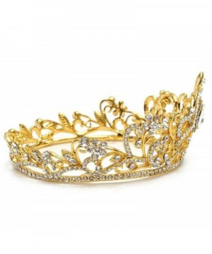 Luxury Gold tone Pageant Crystal Wedding