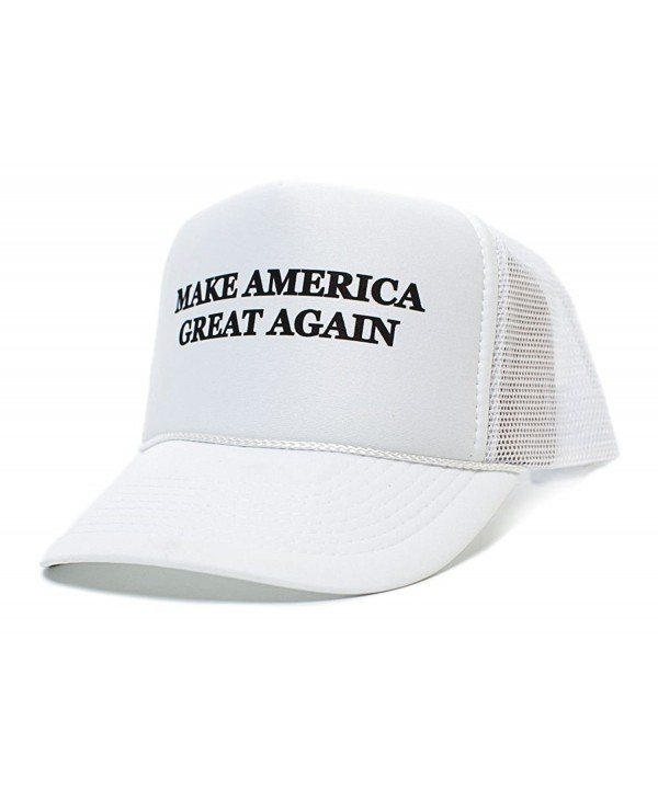 Make America Great Again Trump 2016 Unisex-Adult One size Hat White/White - White - CB123K8M8VT