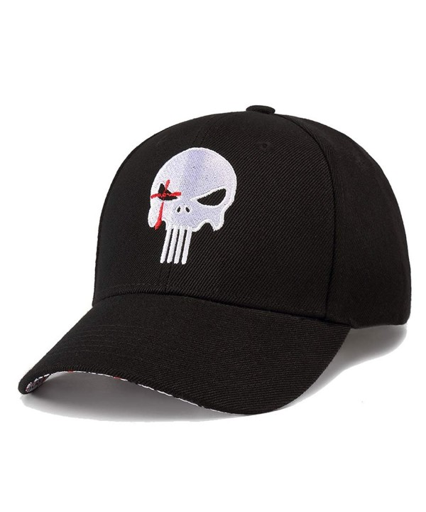 Quanhaigou Baseball Cap For Men Women- Polo Style Dad Hat Cool Unstructured Snapback - Punisher - C5189WSWLGL