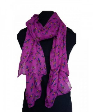 Pamper Yourself Now Women's Bumble Bee Design Long Scarf - Pink - CW11MYH4GWR