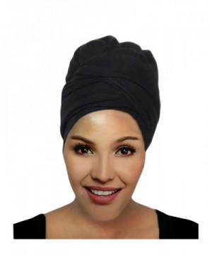 Hana's Women's Stretch Large Turban Head Wrap Hair Jersey Head Scarf Tie - Olive - CS180K8OOCH