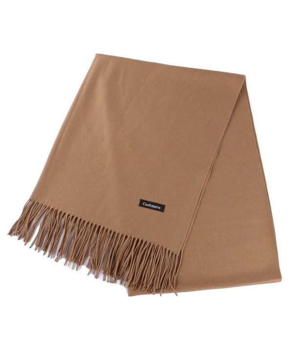 Fani Large Fashionable Cashmere Scarf Soft Silky Warm Wool Shawl Winter Wrap for Women Ladies Gift - Camel - C91803YXH9C