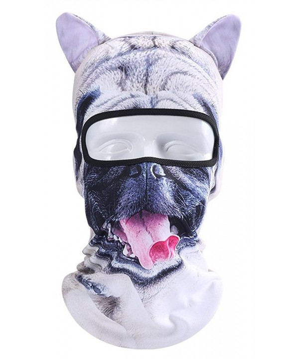 Tina Silvergray Coolmax Animal Face 3D Print Anti UV Windproof Balaclava - Pug Dog With Ears - CA186U2QTC2