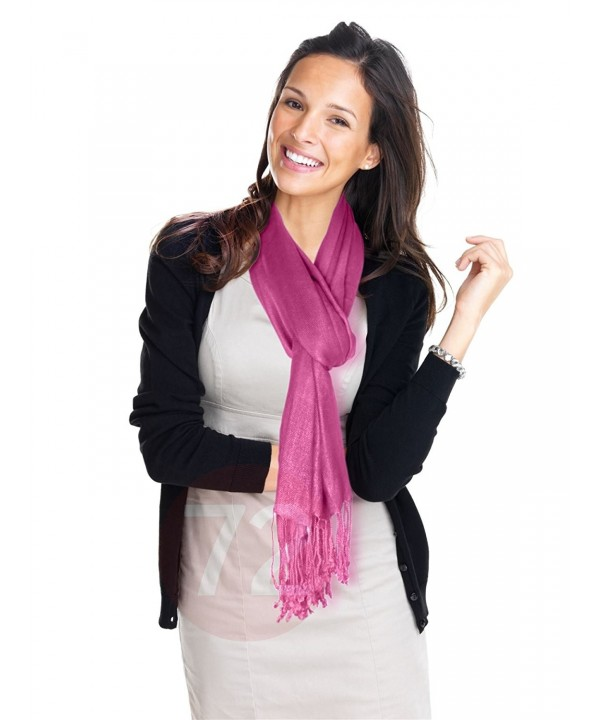 Kuldip Unisex Pashmina Scarf Shawl Wrap Throw Light Plum Pink - CV1130YEMXV
