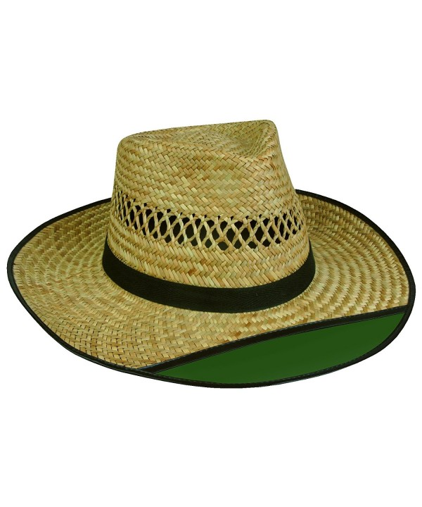 Outdoor Cap LD-902EX Beach Bum 2 Straw Hat with Green Visor - C8114UIQDY7