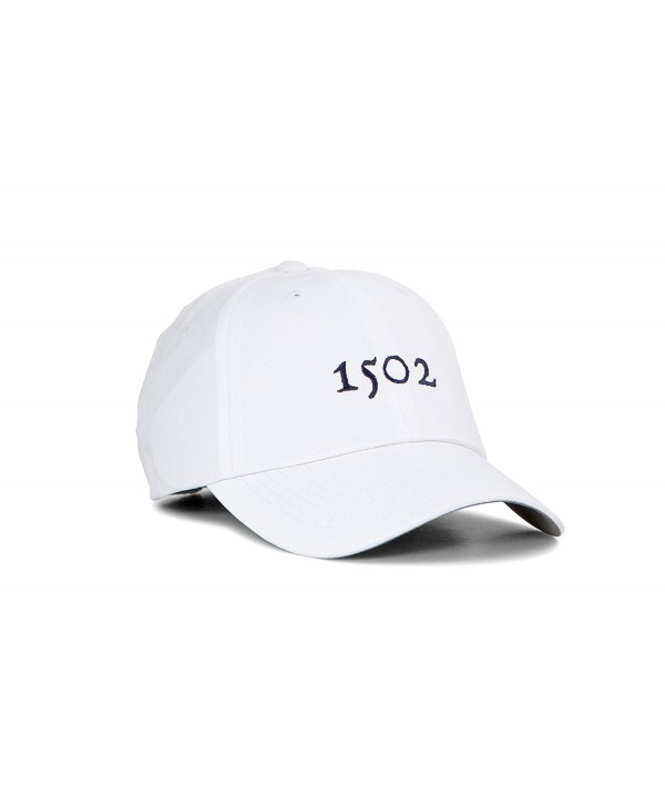 Performance Golf Hat- Lightweight Polyester 1502 Golf Hat - White - CJ1855SHXSQ