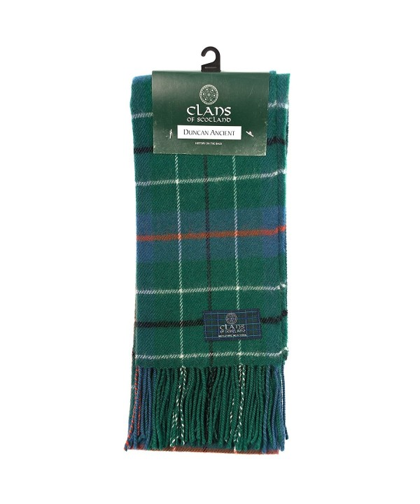 Clans Of Scotland Pure New Wool Scottish Tartan Scarf Duncan Ancient (One Size) - CQ12581BW6X