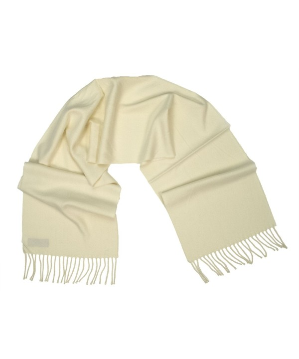 Ann Carol Designs 100% Cashmere Wool Scarf Germany 12 Inches x 64 Inches Cream White - CP11CR23R1Z
