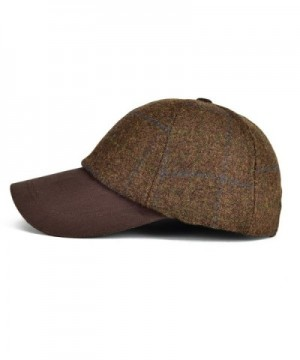 VOBOOM Herringbone Baseball Woolen Adjustable