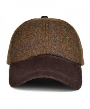 VOBOOM Herringbone Baseball Woolen Adjustable in Men's Newsboy Caps