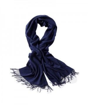 Bellonesc Cashmere Scarf Shawls for Women and Men - Navy Blue - CA188WHR6LS
