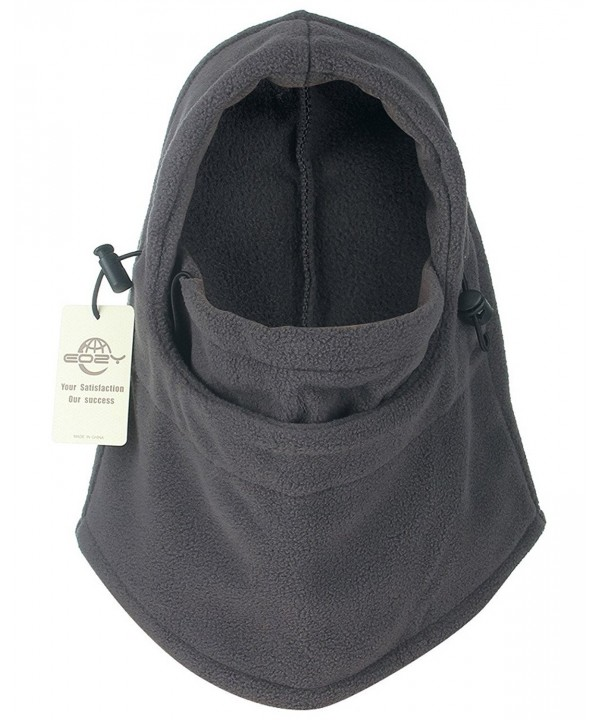 EOZY Thermal Warm Fleece Balaclava Hood Veil Wind Proof Stopper Mask Hats - Grey - CP11E22X9Y3