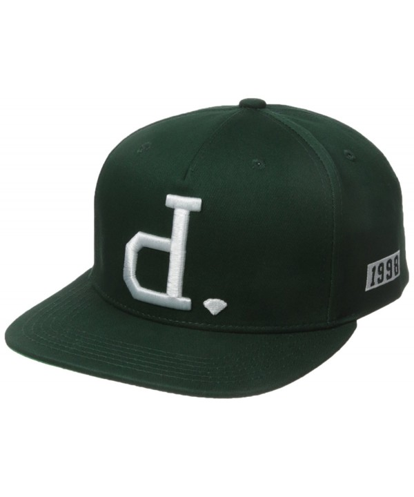 Diamond Supply Co Men's Un Polo Snapback - Hunter Green - CK12BMIH2EH