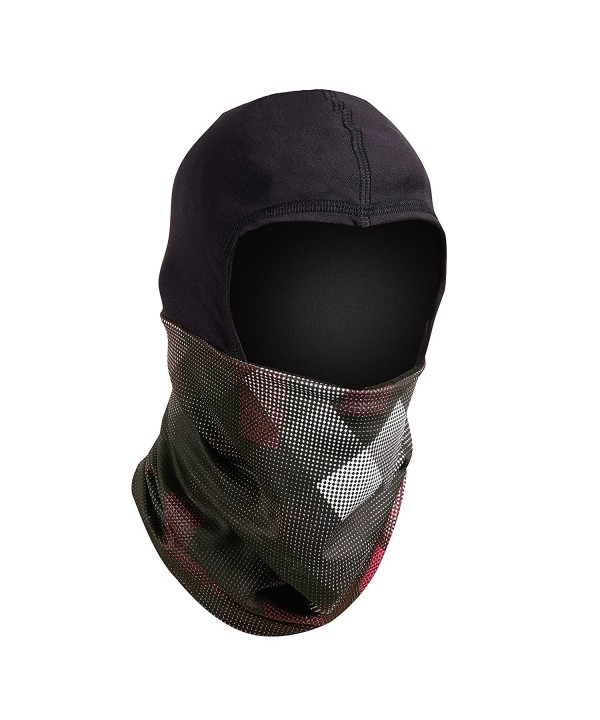 Turtle Fur Shellaclava- Comfort Shell Balaclava Hood and Face Mask with Fleece Lined Neck Warmer - Checks Mix - C5185NH56UK