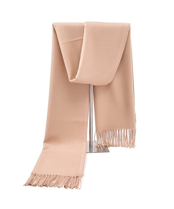 Women silk soft cashmere scarf- large oversized pashmina shawl wrap scarves with multicolor Memorygou - Camel - CI186SYC8T6