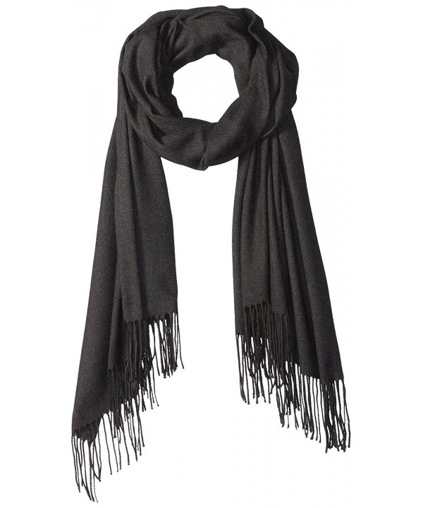 PURE STYLE Girlfriends Women's Super Soft- Elegant- Fringed Scarf Pashmina Shawl Vers - Black - C612N6EH7Y6