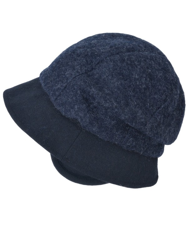 Casualbox Charm Womens Winter Hat Classic Casquette Retro Design Ladies Lady Warm Earwarmers - Navy - CK12MDZ532L