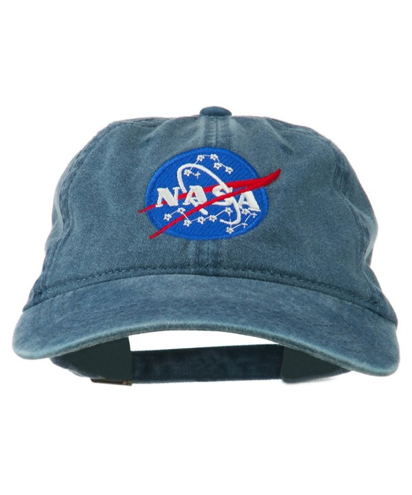 NASA Insignia Embroidered Pigment Dyed Cap - Navy - CQ11QLM7F51